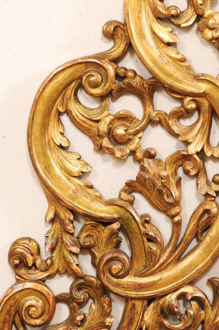 Italian Pierce-Carved and Giltwood Fragment Stands Great Headboard For Sale 4