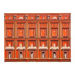 Italian Piero Fornasetti Pompeiana Stamp on Fabric from 1950