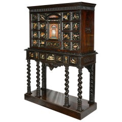 Italian Pietra Dura Cabinet on Stand, 18th Century