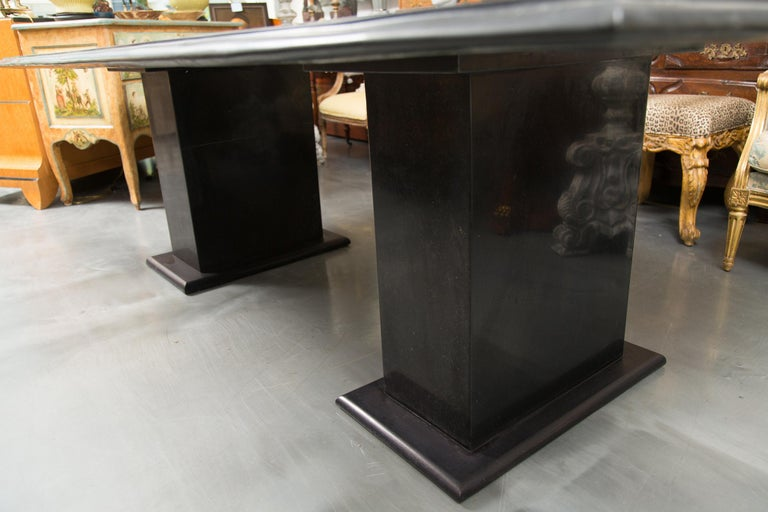 Other Italian Pietra Dura Marble Table and Plinths For Sale
