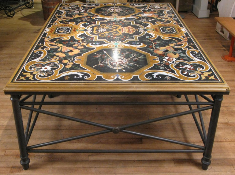 Italian Pietra Dura Table In Good Condition For Sale In Hudson, NY