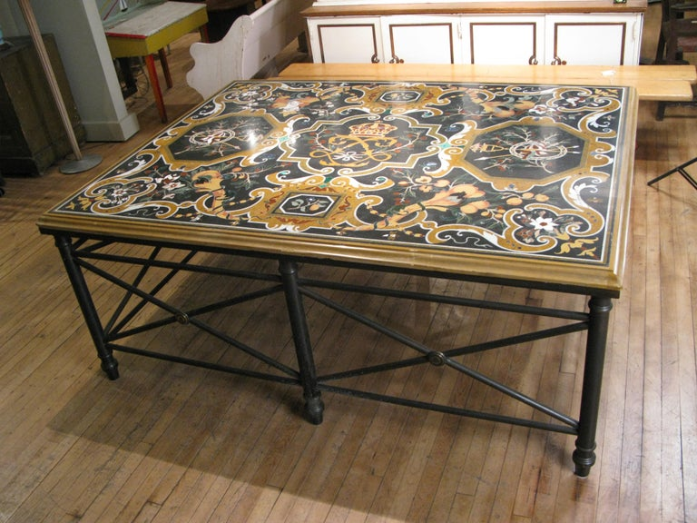 Italian Pietra Dura Table For Sale 1