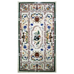 Italian Pietre Dure Rectangular 6-Seater Dinning Classical Table Top