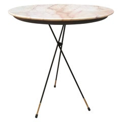 Italian Pink Marble Coffee Table from 1950s
