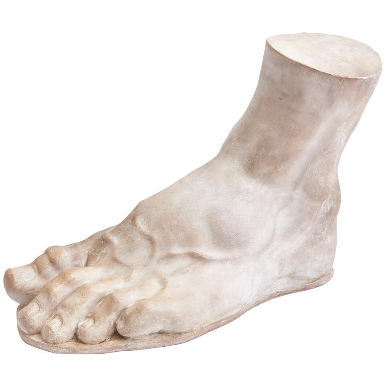 Italian Plaster Cast of the Foot of the Emperor Constantine, circa 1950 For Sale