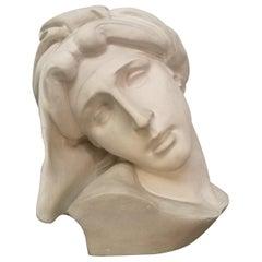 Italian Plaster Sculpture of a Woman, Milan, 1980s