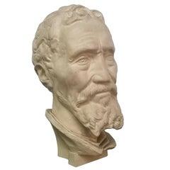 Italian Plaster Sculpture of Michelangelo Buonarroti, 1970s
