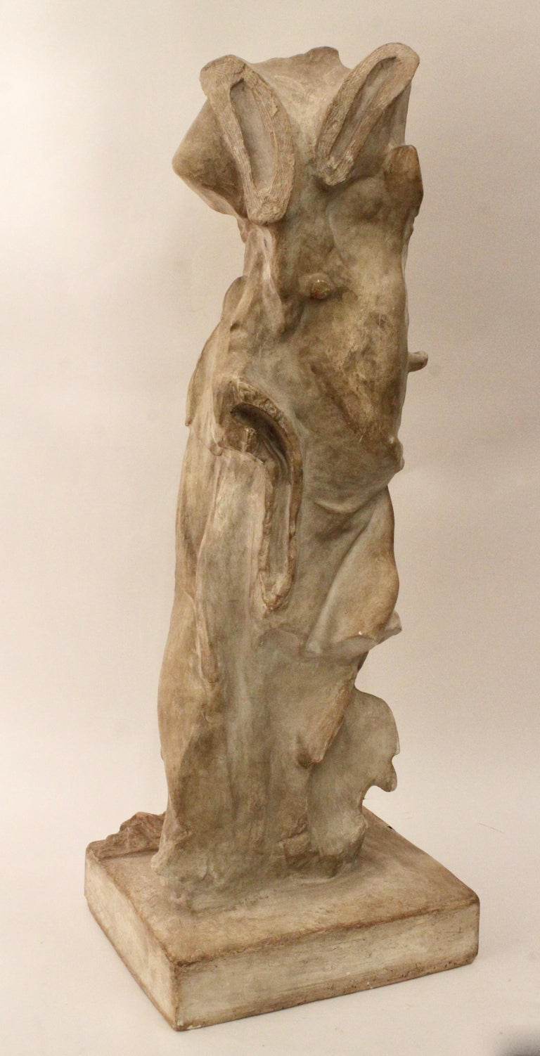 Italian Plaster Sculpture of NIKE of Samothrace, circa 1950 In Good Condition For Sale In London, GB