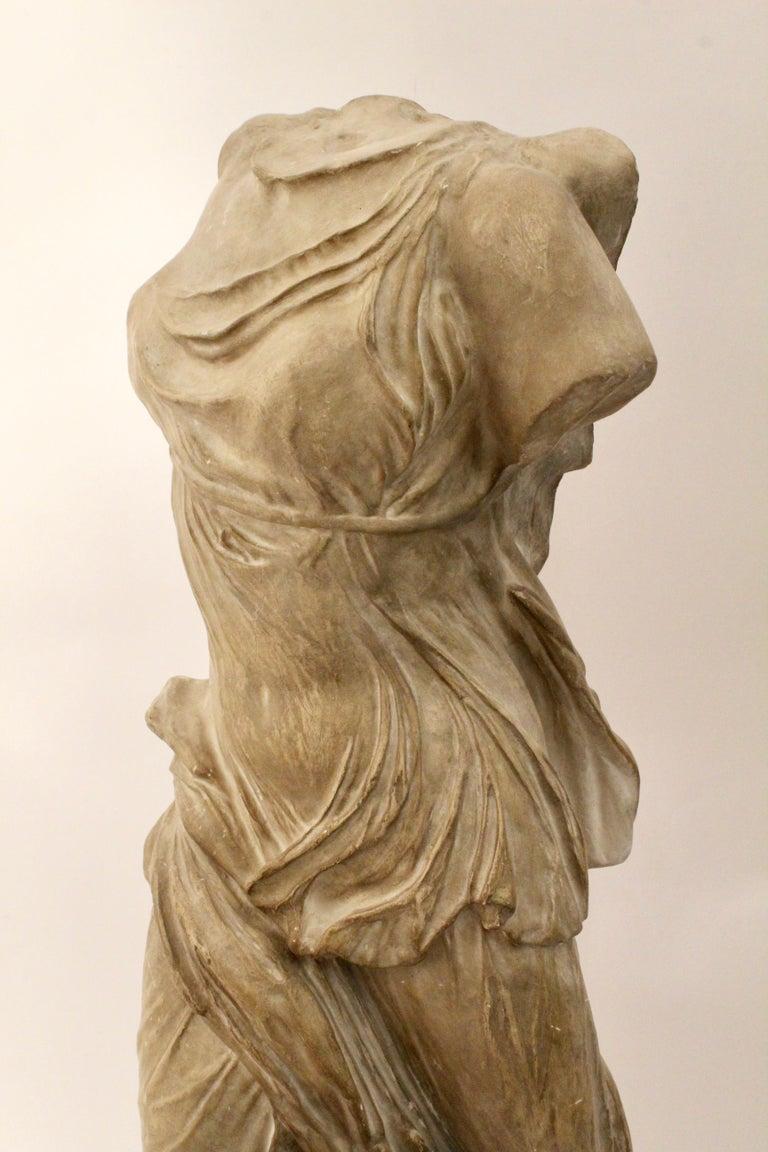 20th Century Italian Plaster Sculpture of NIKE of Samothrace, circa 1950 For Sale