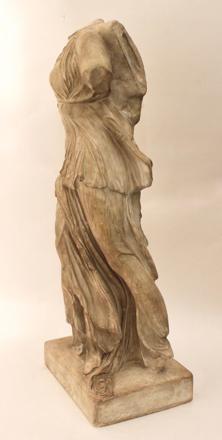 Italian Plaster Sculpture of NIKE of Samothrace, circa 1950 For Sale 1