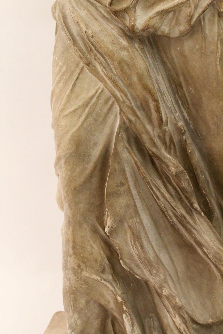 Italian Plaster Sculpture of NIKE of Samothrace, circa 1950 For Sale 2