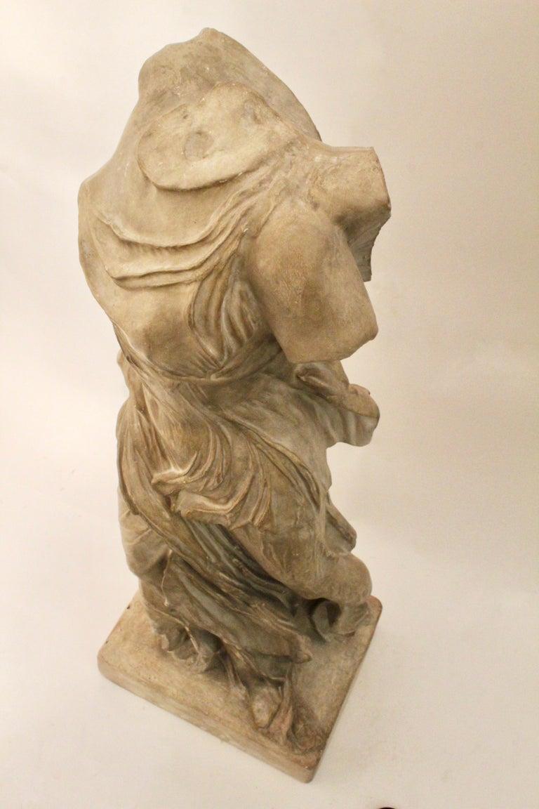 Italian Plaster Sculpture of NIKE of Samothrace, circa 1950 For Sale 4