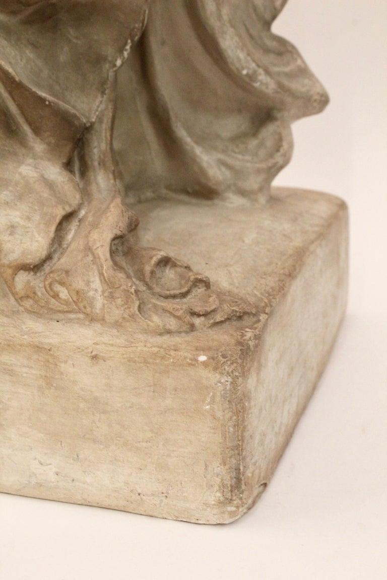 Italian Plaster Sculpture of NIKE of Samothrace, circa 1950 For Sale 5