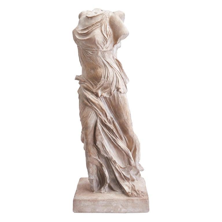 Italian Plaster Sculpture of NIKE of Samothrace, circa 1950 For Sale