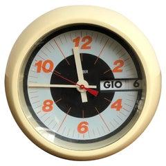 Italian Plastic Space Age Clock by Condor, 1970s