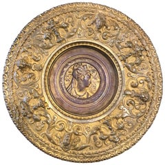 Italian Plate Antonio Pandiani 'Milan 1838-1928' Bronze