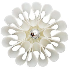 Italian Plexiglass or Acrylic POP Flower Wall Sconce, 1970s