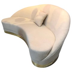 Italian Plush  Curved Sofa in the Manner of Vladimir Kagan
