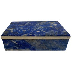 Italian Polished Blue Agate Table Box