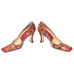 Italian Pollini Sculpted Patent Leather Shoes Pair Of