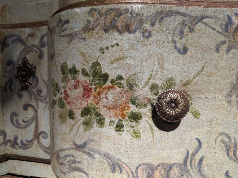 Italian Polychrome Venetian Painted Bureau Cabinet, Early 20th Century For Sale 3