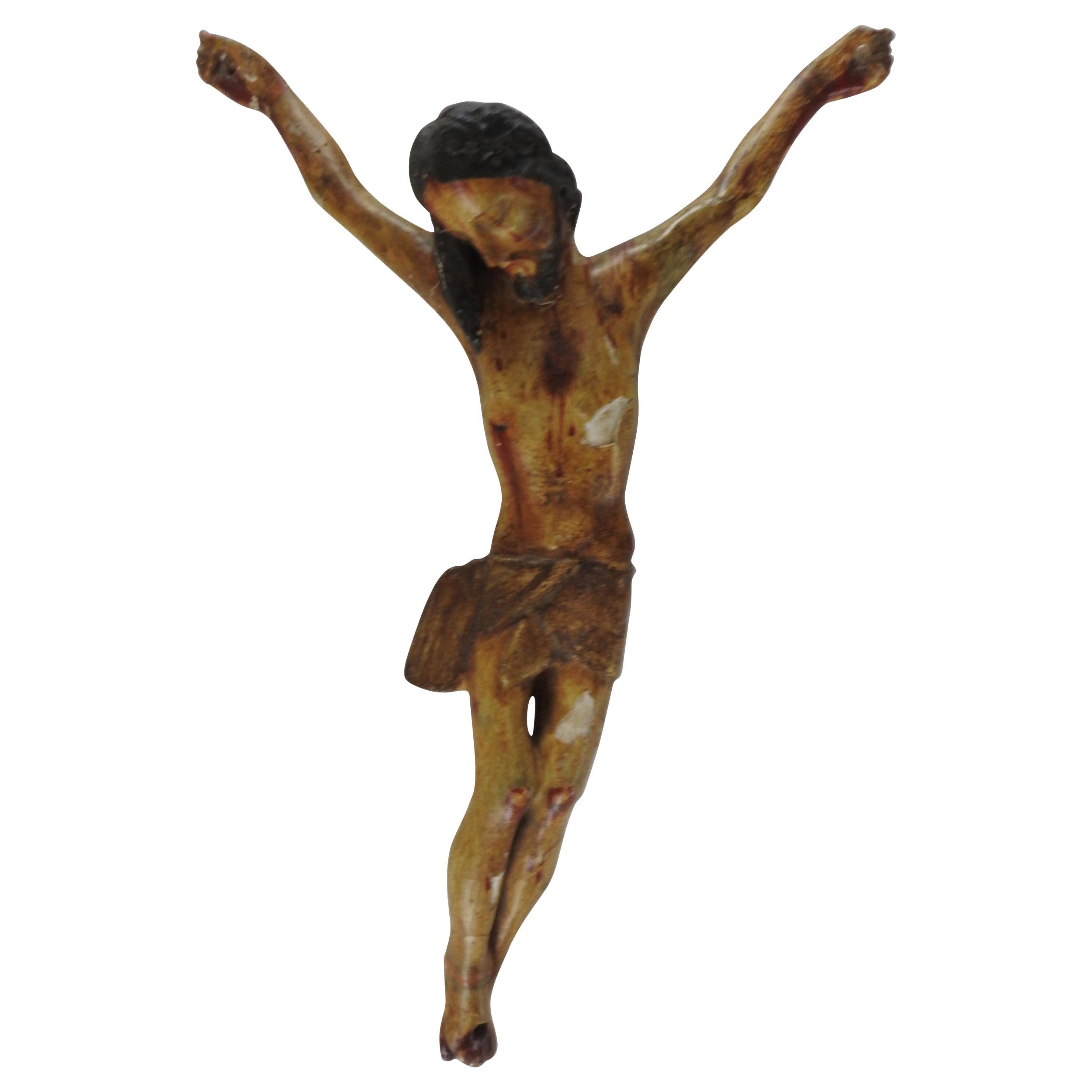 Italian Polychromed Crucifix