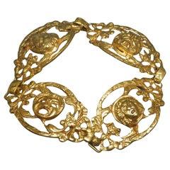 Italian Pompeii Roman Gods Filigree Bracelet