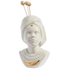 Italian Porcelain Essential Oil Diffuser, Indian Lady by Vito Nesta