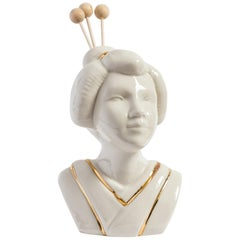 Italian Porcelain Essential Oil Diffuser, Japanese Lady by Vito Nesta