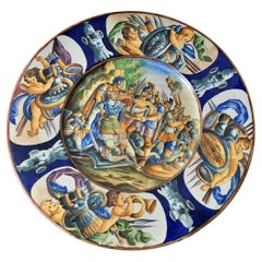 """Italian Porcelain Plate from 19th Century """" War """""""