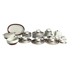 Italian Porcelain Richard Ginori 1960's Dinnerware Set