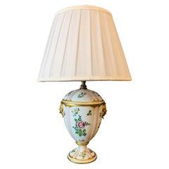 Italian Porcelain Table Lamp, circa 1970
