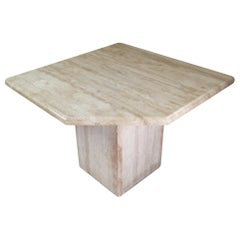 Italian Post-Modern Travertine Side/Coffee Table, 1970s