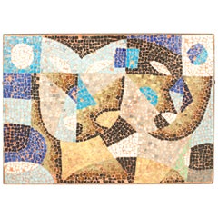 Italian Post-War Design Mosaic Wall Plaque