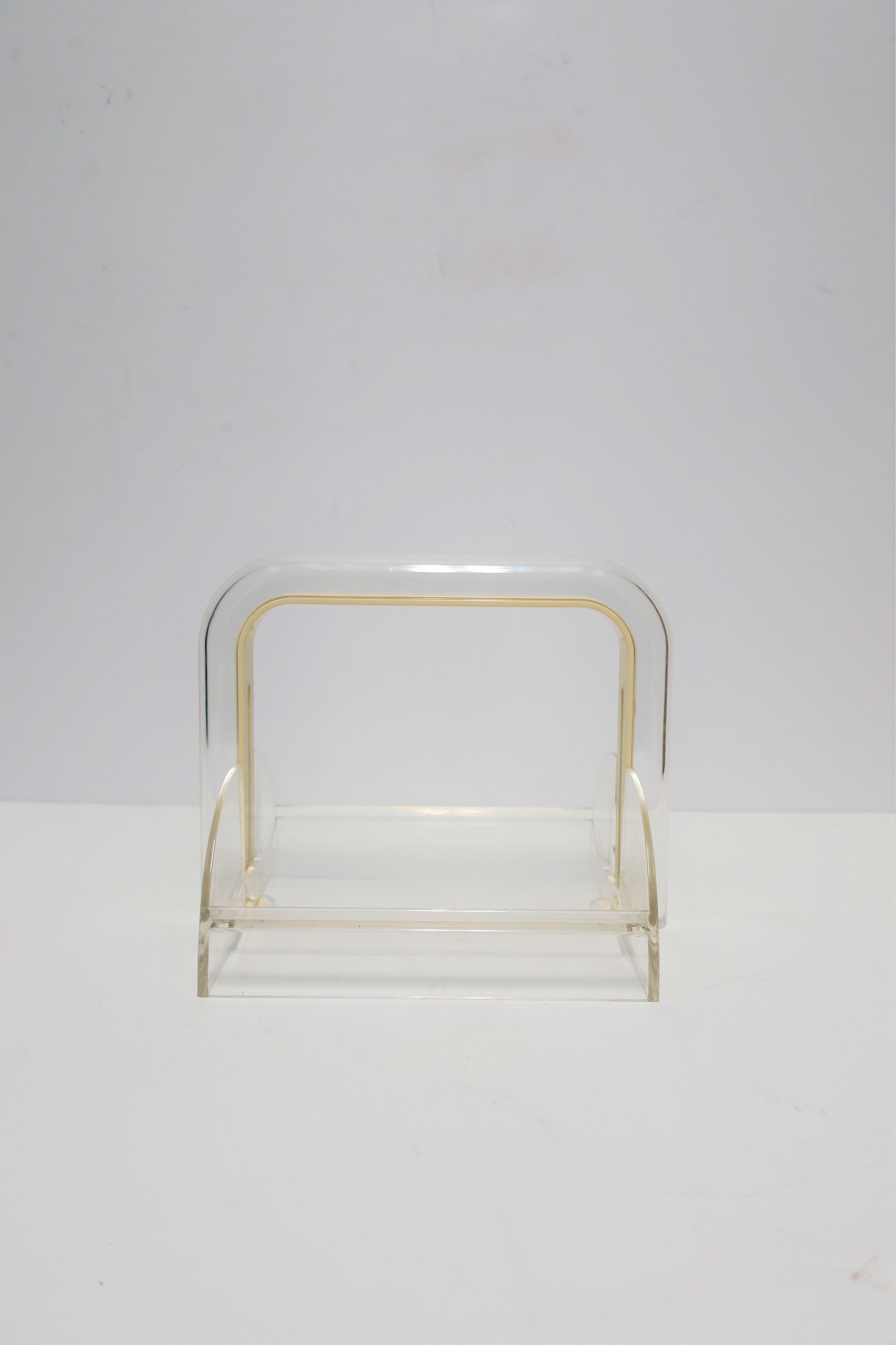 Italian Postmodern Acrylic Napkin Holder By Designer Rede Guzzini For Sale At 1stdibs