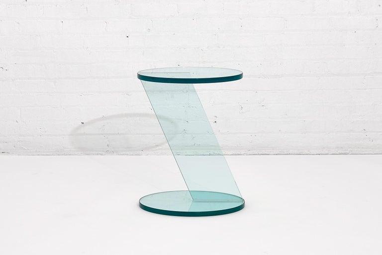 Post-Modern Italian Postmodern Glass Drink Table For Sale