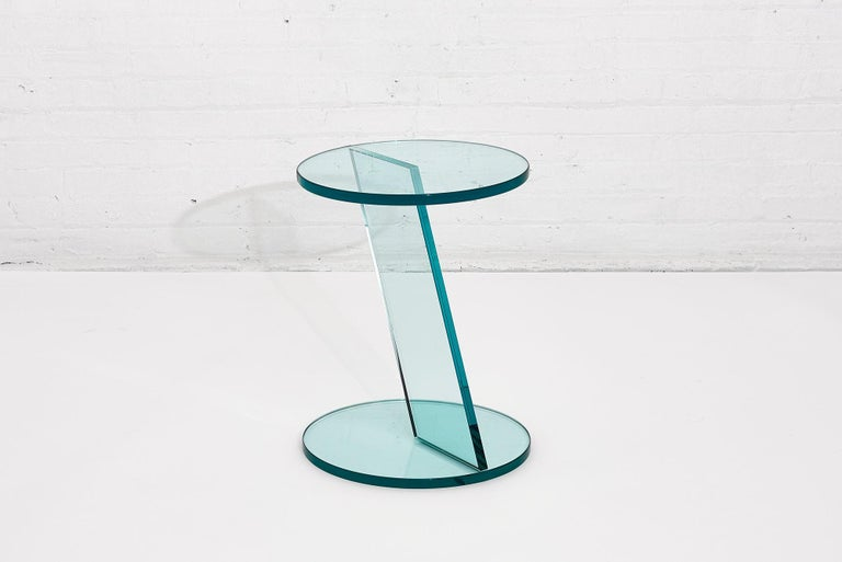 Italian Postmodern Glass Drink Table In Good Condition For Sale In Chicago, IL