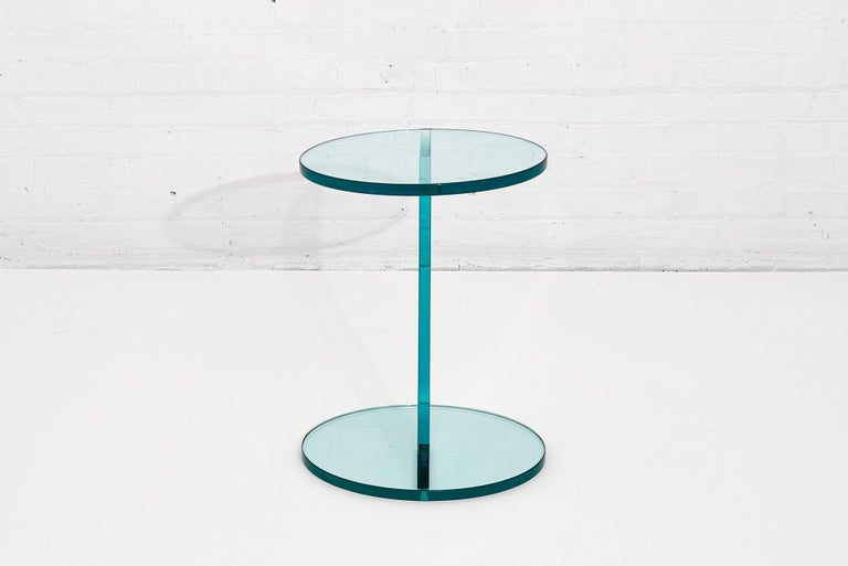 20th Century Italian Postmodern Glass Drink Table For Sale