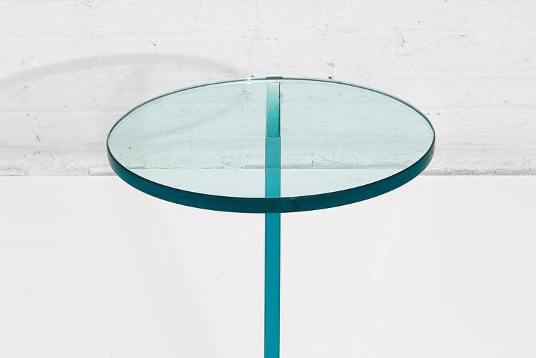 Italian Postmodern Glass Drink Table For Sale 1