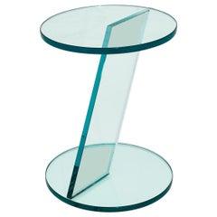Italian Postmodern Glass Drink Table