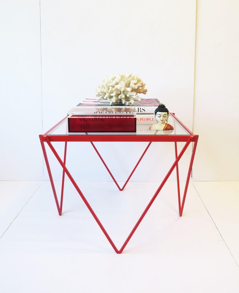 Postmodern Italian Lucite Red Designer Jewelry Box by Albrizzi  8