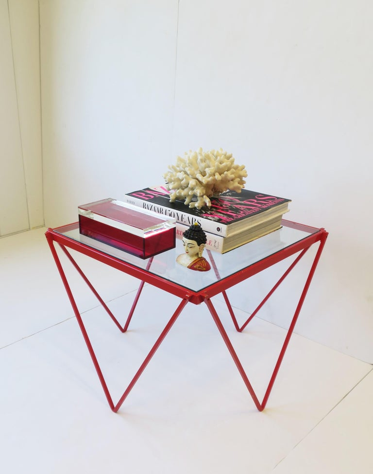 Postmodern Italian Lucite Red Designer Jewelry Box by Albrizzi  9