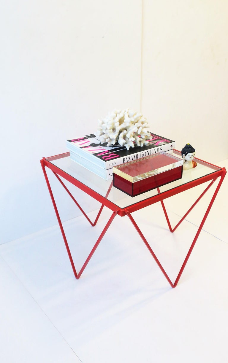 Postmodern Italian Lucite Red Designer Jewelry Box by Albrizzi  10
