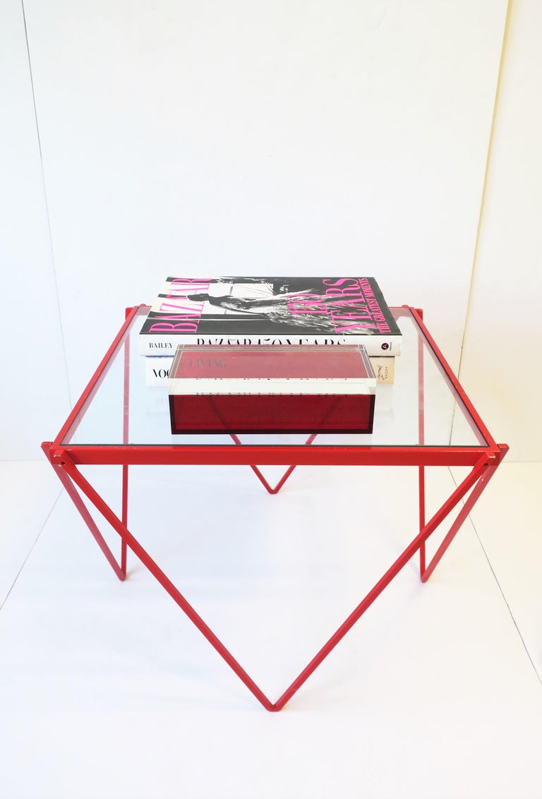 Postmodern Italian Lucite Red Designer Jewelry Box by Albrizzi  11