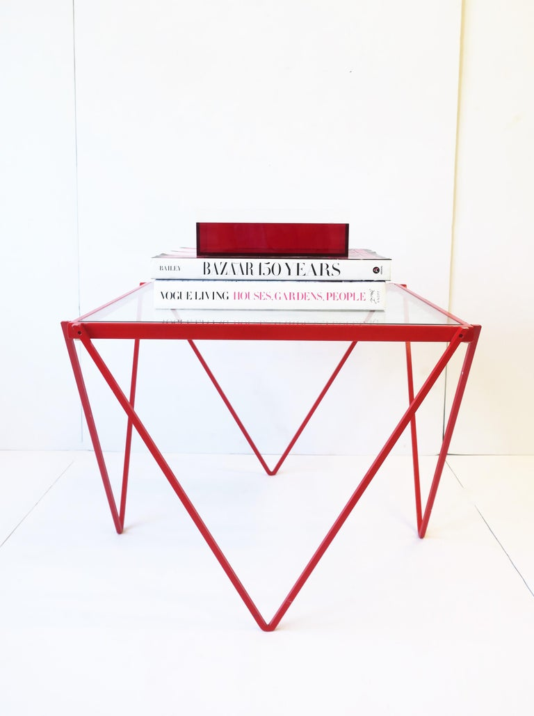 Postmodern Italian Lucite Red Designer Jewelry Box by Albrizzi  12