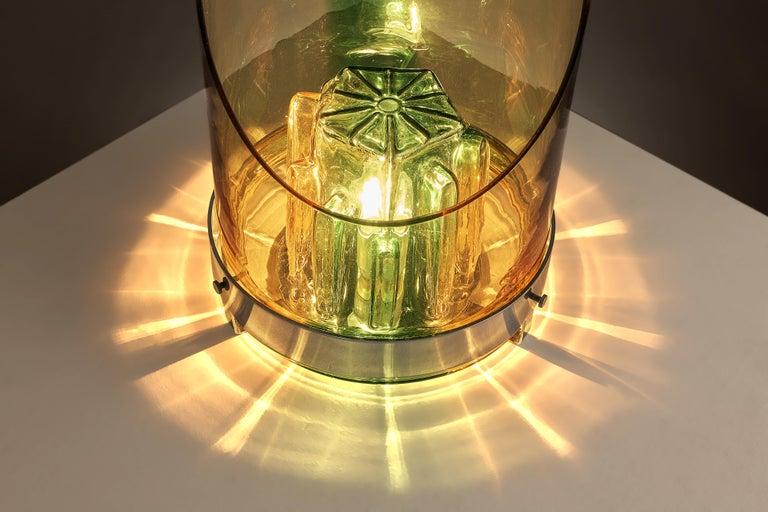 Post-Modern Italian Postmodern Table Lamp in Glass For Sale
