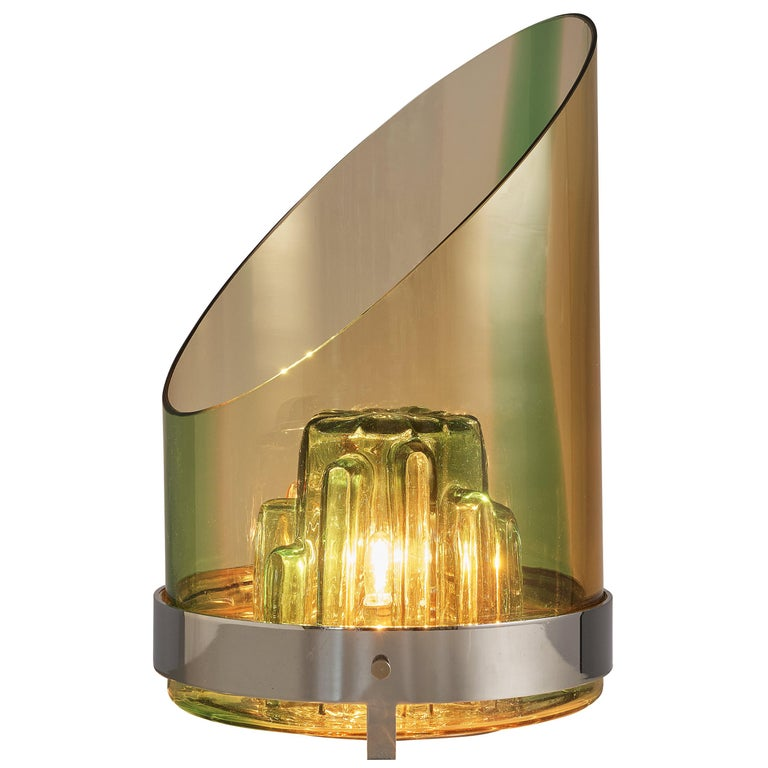 Italian Postmodern Table Lamp in Glass For Sale