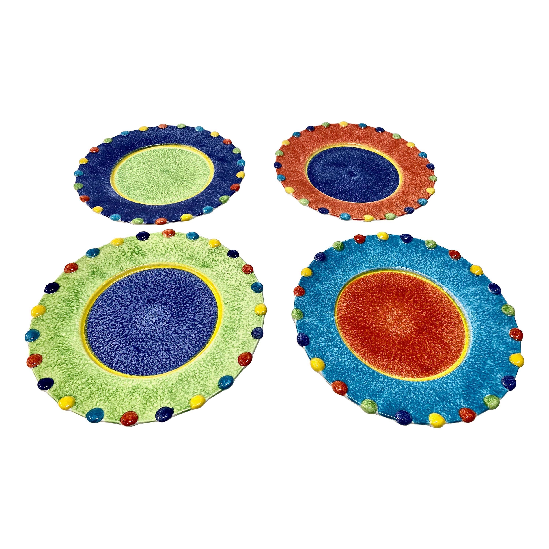 Italian Hand-Painted Dinner Plates, Set of 12