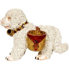 Italian Pottery Dog Cachepot, in the Staffordshire Style
