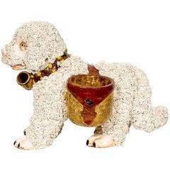 Italienischer Keramik Hund Übertopf, im Staffordshire Stil